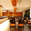 Modern restaurant interior in night illumination, Pattaya, Thail — Stock Photo #4186271