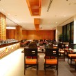 Modern restaurant interior in night illumination, Pattaya, Thail — Stock Photo