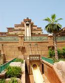 DUBAI, UAE - AUGUST 28: The Aquaventure waterpark of Atlantis th — Stock Photo