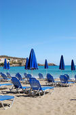 Beach of the luxury hotel, Crete, Greece — Stock Photo