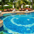 Swimming pool at modern luxury hotel, Samui island, Thailand — Stock Photo #4410643