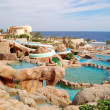 Waterpark at the beach of popular hotel, Sharm el Sheikh, Egypt — Stock Photo