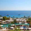 Swimming pool at the beach of luxury hotel, Sharm el Sheikh, Egy — Stock Photo