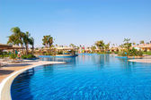 Swimming pool area at VIP villas, Sharm el Sheikh, Egypt — Stock Photo