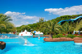 Waterpark at the luxury hotel, Antalya, Turkey — Stock Photo