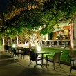 Stock Photo: Indoor and outdoor restaurants in night illumination, Pattaya, T