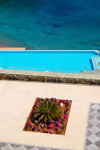 Recreation area of the luxury hotel, Crete, Greece — Стоковое фото