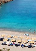 Playa de lujo del hotel, creta, grecia — Foto de Stock