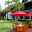 Stock Photo: Outdoor restaurant of luxury hotel, Samui, Thailand
