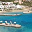 Beach of the luxury hotel, Crete, Greece - 图库照片