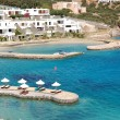 Beach of the luxury hotel, Crete, Greece - Стоковая фотография