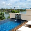 Swimming pool at luxury hotel, Phuket, Thailand — Foto Stock