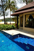 Swimming pool at the luxury villa, Phuket, Thailand — Stock fotografie