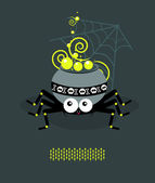 Boiler is a spider A — Stock Vector