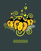 Pattern of pumpkins A — Stock Vector