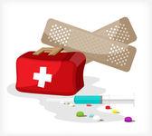 Kit médico un — Vector de stock