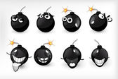 Bomb emotions — Vector de stock