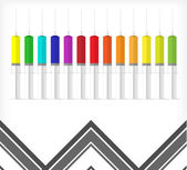 Background color syringes A — Stock Vector