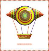 Fas balon bir — Stok Vektör