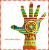Moroccan hand A — Stock Vector