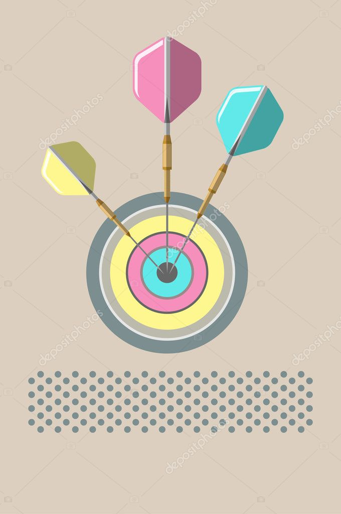 Posters with the target and darts. Illustration — Stock Vector #4372194