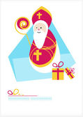 St. Nicholas Day. Man with gifts — Stock Vector