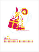 Gifts, candles, Staff — Stock Vector