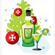 Celebratory bottle of absinthe — Stock Vector #4418837