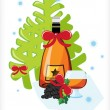 Celebratory bottle of Armenian brandy - Stock Vector