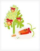 Tranches d'arbre de carotte — Vecteur