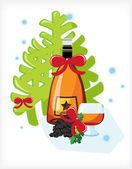 Celebratory bottle of Armenian brandy — Stock Vector