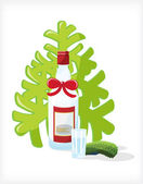 Festive Bottle — Stock Vector