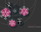 Christmas ornaments, Pink Balls — Stock Vector