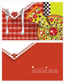 Pizza Card — Stock Vector