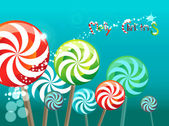 Field of lollipops — 图库矢量图片