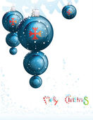 Blue Christmas toys — Vector de stock