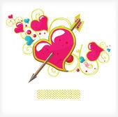 Heart and arrow — Stock Vector