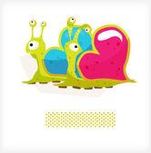 Lovers snail 2 — Stock Vector