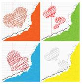 Coração de notebook — Vetorial Stock
