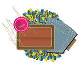Sewing pocket — Stock Vector