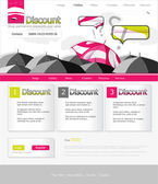 Website pink umbrella — Stock Vector