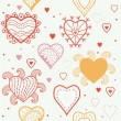 Stock Vector: Seamless pattern with heart