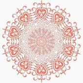 Ornamental round lace — Wektor stockowy