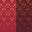 Royalty-Free Stock : 2 variants of Seamless wallpaper