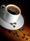 杯咖啡和谷物 — 图库照片