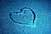 Corazón mojado — Foto de Stock