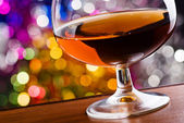 Cognac in a glass — Stock Photo