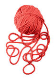 Isolated red skein — 图库照片