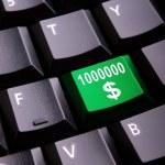 Money symbol on a keyboard — Stock Photo