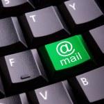 E-mail symbol on a keyboard — Stock Photo